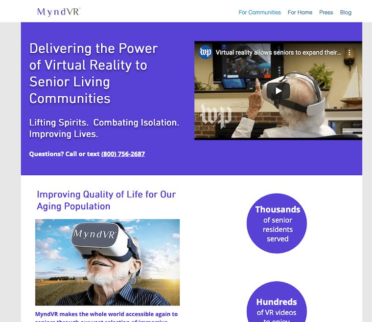 MyndVRウェブサイト