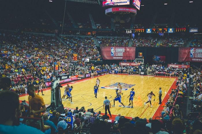 NBAの試合の様子