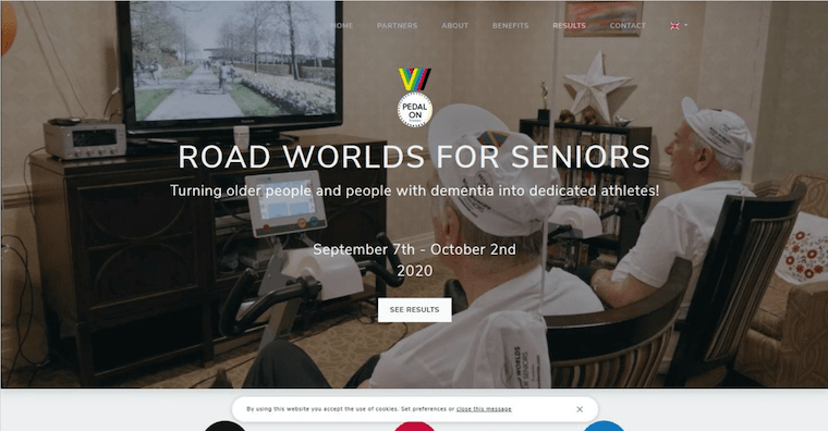 ROAD WORLDS FOR SENIORSのウェブサイト